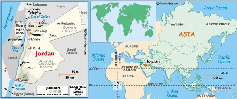About Jordan GoldenGate - Jordan country in world map